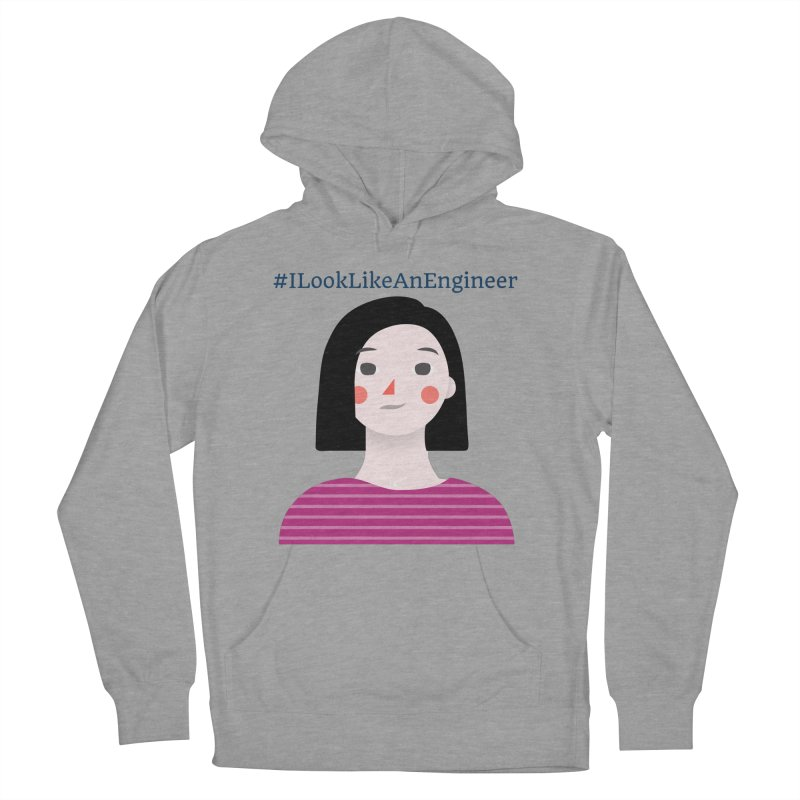 #ILookLikeAnEngineer with a female avatar Women's French Terry Pullover Hoody by Women in Technology Online Store
