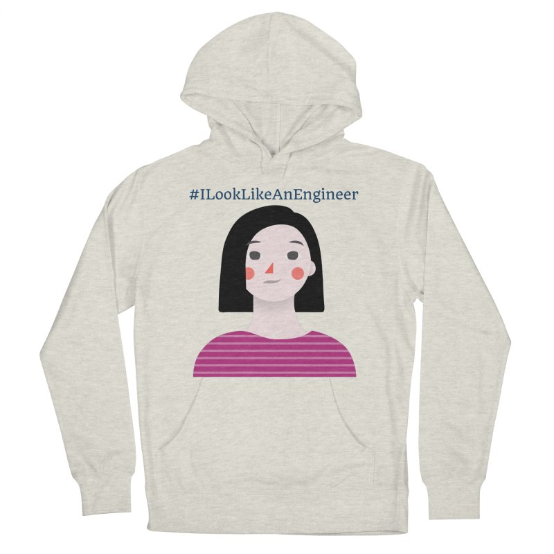 #ILookLikeAnEngineer with a female avatar Men's French Terry Pullover Hoody by Women in Technology Online Store