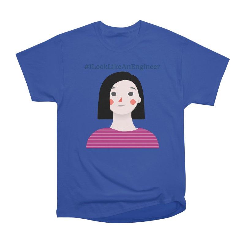 #ILookLikeAnEngineer with a female avatar Men's Heavyweight T-Shirt by Women in Technology Online Store