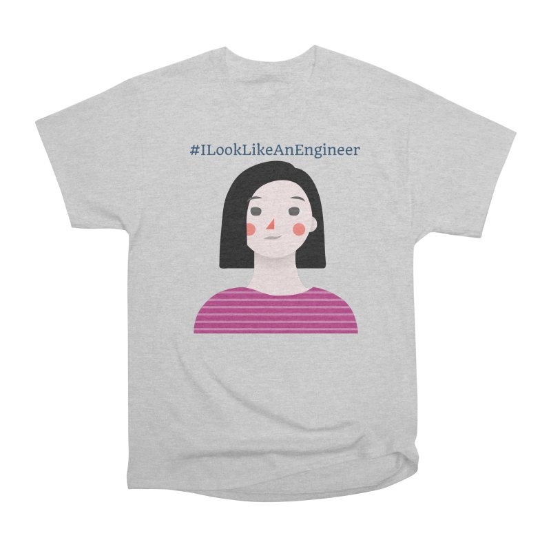 #ILookLikeAnEngineer with a female avatar Men's Heavyweight T-Shirt by Women in Technology Online Store