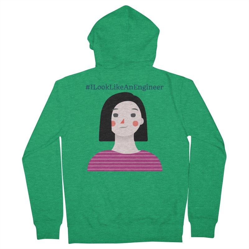 #ILookLikeAnEngineer with a female avatar Women's Zip-Up Hoody by Women in Technology Online Store