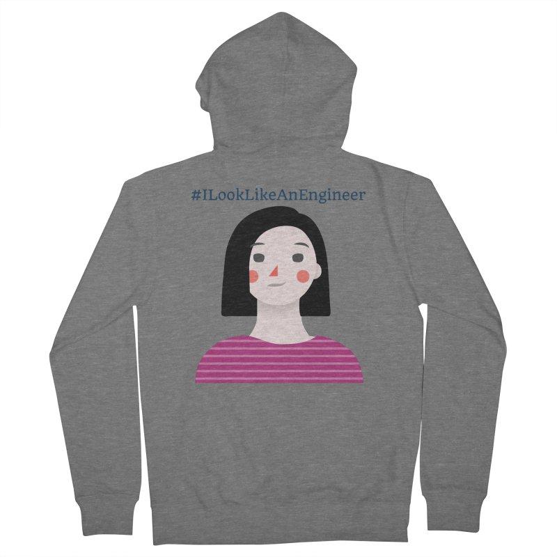 #ILookLikeAnEngineer with a female avatar Women's Zip-Up Hoody by Women in Technology Online Store