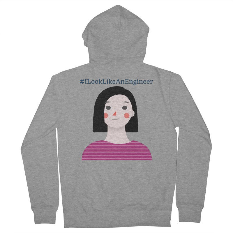#ILookLikeAnEngineer with a female avatar Women's French Terry Zip-Up Hoody by Women in Technology Online Store