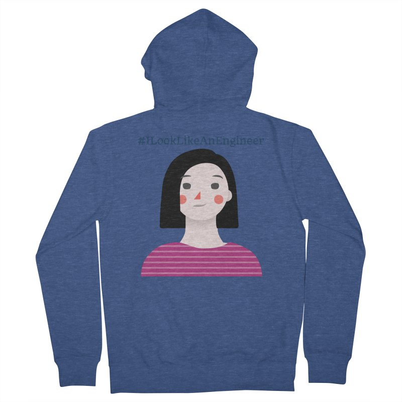 #ILookLikeAnEngineer with a female avatar Men's French Terry Zip-Up Hoody by Women in Technology Online Store