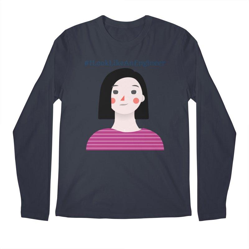 #ILookLikeAnEngineer with a female avatar Men's Regular Longsleeve T-Shirt by Women in Technology Online Store