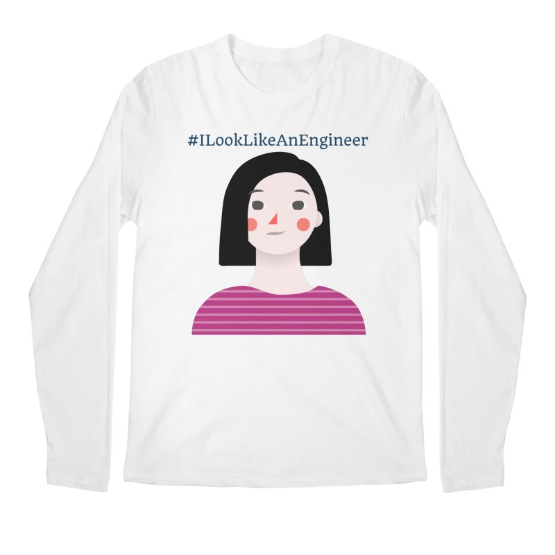 #ILookLikeAnEngineer with a female avatar Men's Regular Longsleeve T-Shirt by Women in Technology Online Store