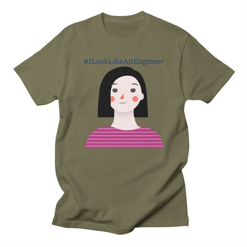 #ILookLikeAnEngineer with a female avatar Women's Regular Unisex T-Shirt by Women in Technology Online Store