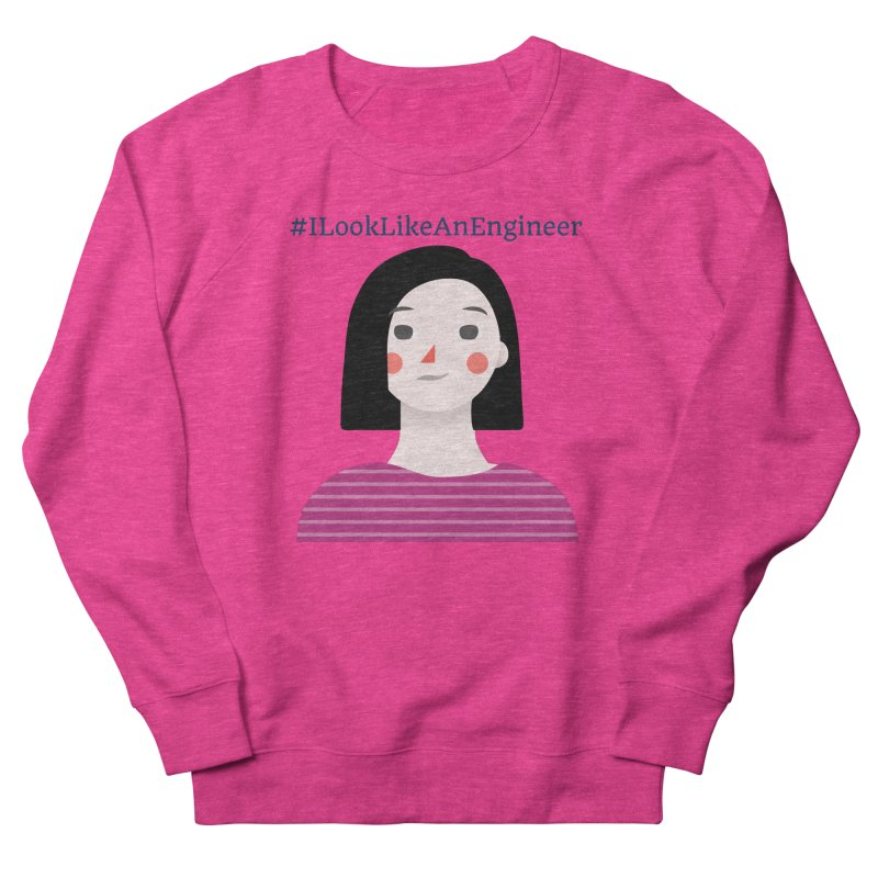 #ILookLikeAnEngineer with a female avatar Men's French Terry Sweatshirt by Women in Technology Online Store