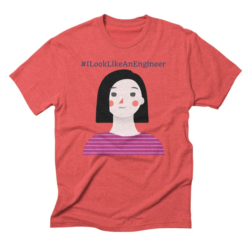 #ILookLikeAnEngineer with a female avatar Men's Triblend T-Shirt by Women in Technology Online Store