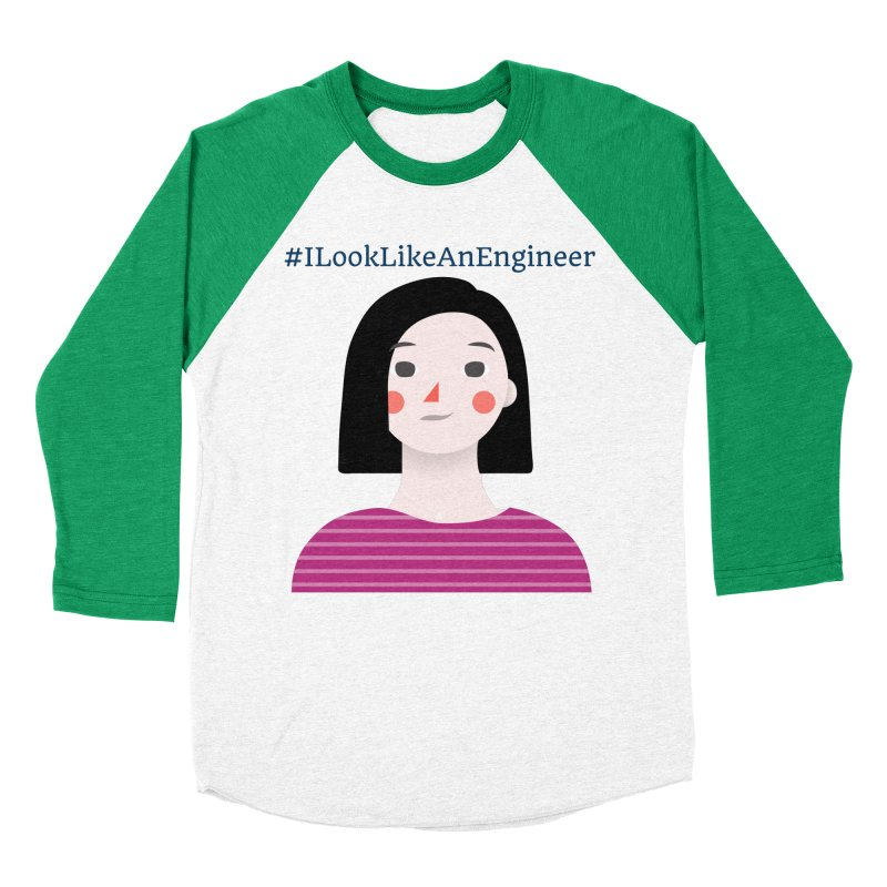 #ILookLikeAnEngineer with a female avatar Women's Baseball Triblend Longsleeve T-Shirt by Women in Technology Online Store