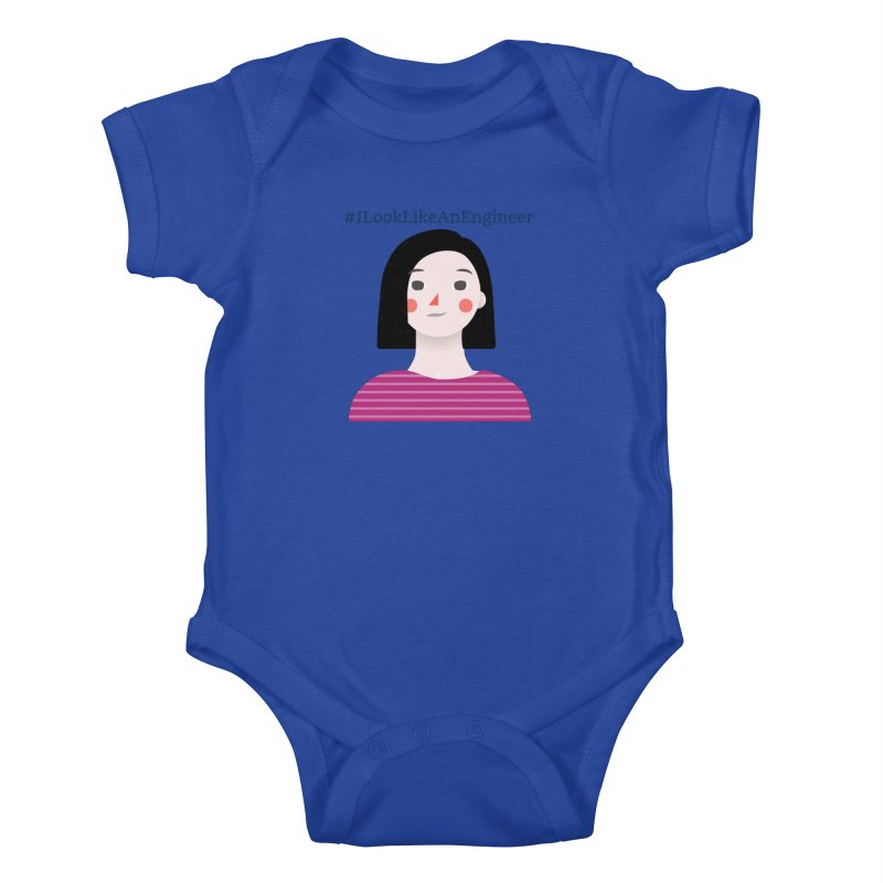 #ILookLikeAnEngineer with a female avatar Kids Baby Bodysuit by Women in Technology Online Store