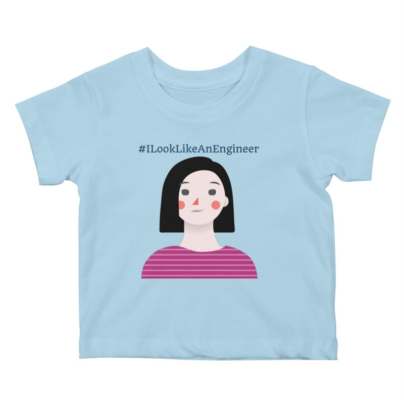#ILookLikeAnEngineer with a female avatar Kids Baby T-Shirt by Women in Technology Online Store