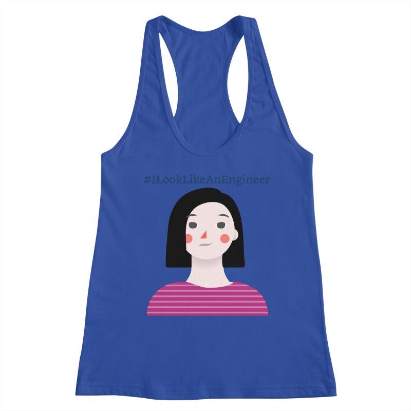 #ILookLikeAnEngineer with a female avatar Women's Tank by Women in Technology Online Store