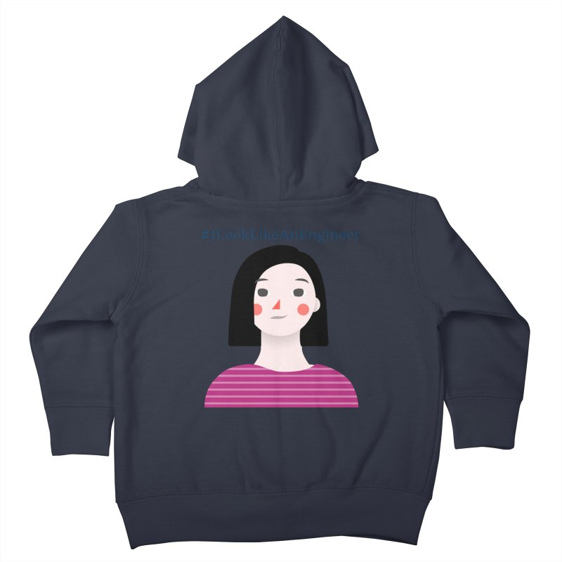 #ILookLikeAnEngineer with a female avatar Kids Toddler Zip-Up Hoody by Women in Technology Online Store