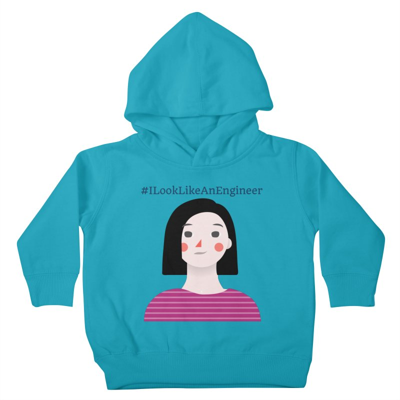 #ILookLikeAnEngineer with a female avatar Kids Toddler Pullover Hoody by Women in Technology Online Store