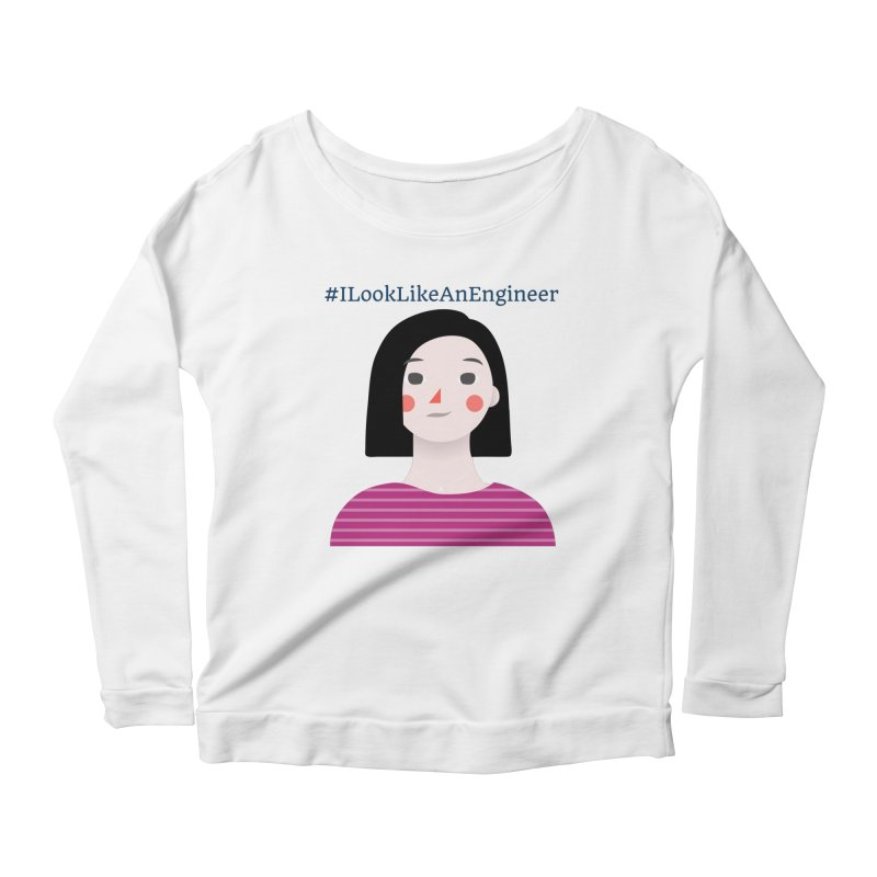 #ILookLikeAnEngineer with a female avatar Women's Scoop Neck Longsleeve T-Shirt by Women in Technology Online Store