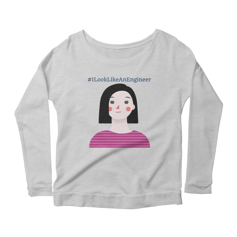 #ILookLikeAnEngineer with a female avatar Women's Scoop Neck Longsleeve T-Shirt by Women in Technology Online Store