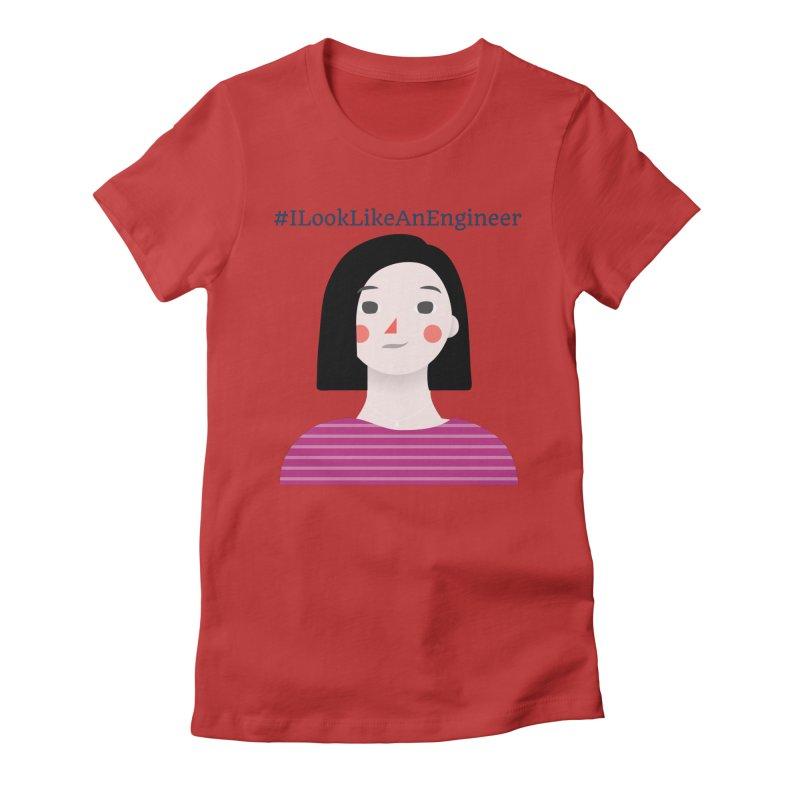 #ILookLikeAnEngineer with a female avatar Women's T-Shirt by Women in Technology Online Store