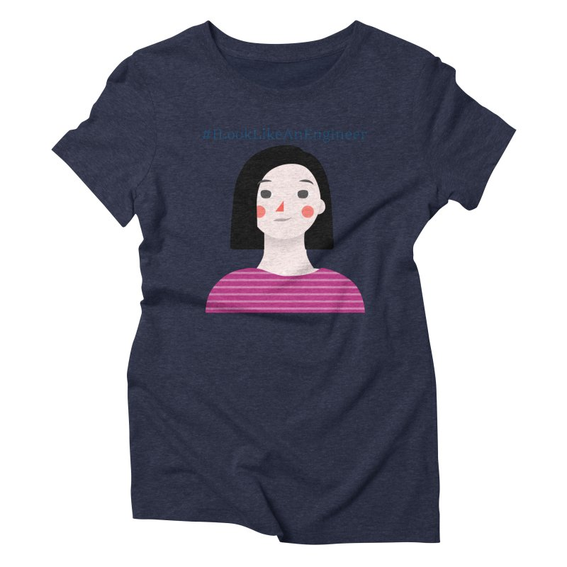 #ILookLikeAnEngineer with a female avatar Women's Triblend T-Shirt by Women in Technology Online Store