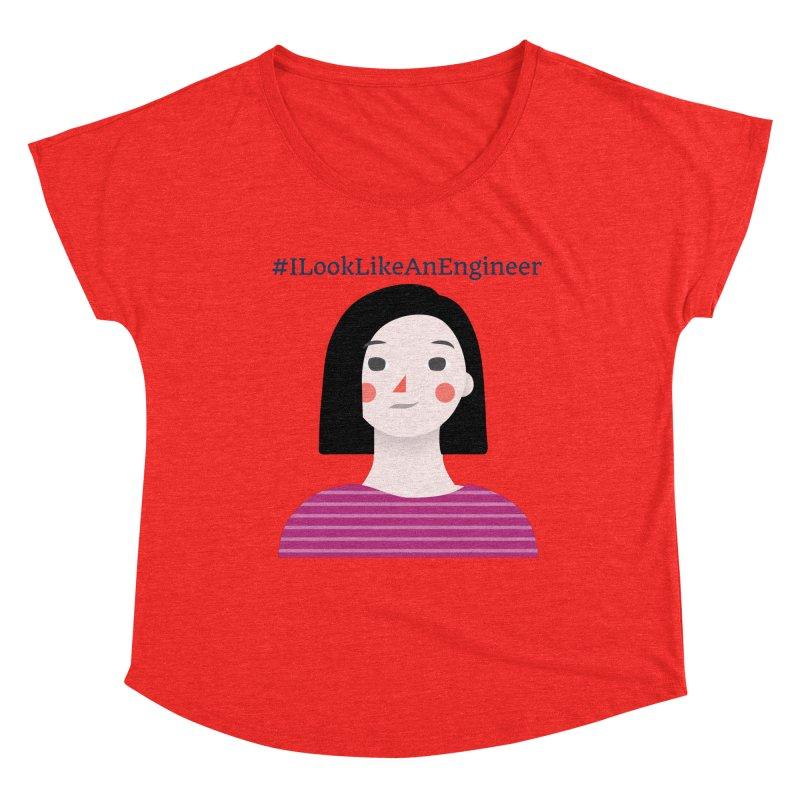 #ILookLikeAnEngineer with a female avatar Women's Scoop Neck by Women in Technology Online Store