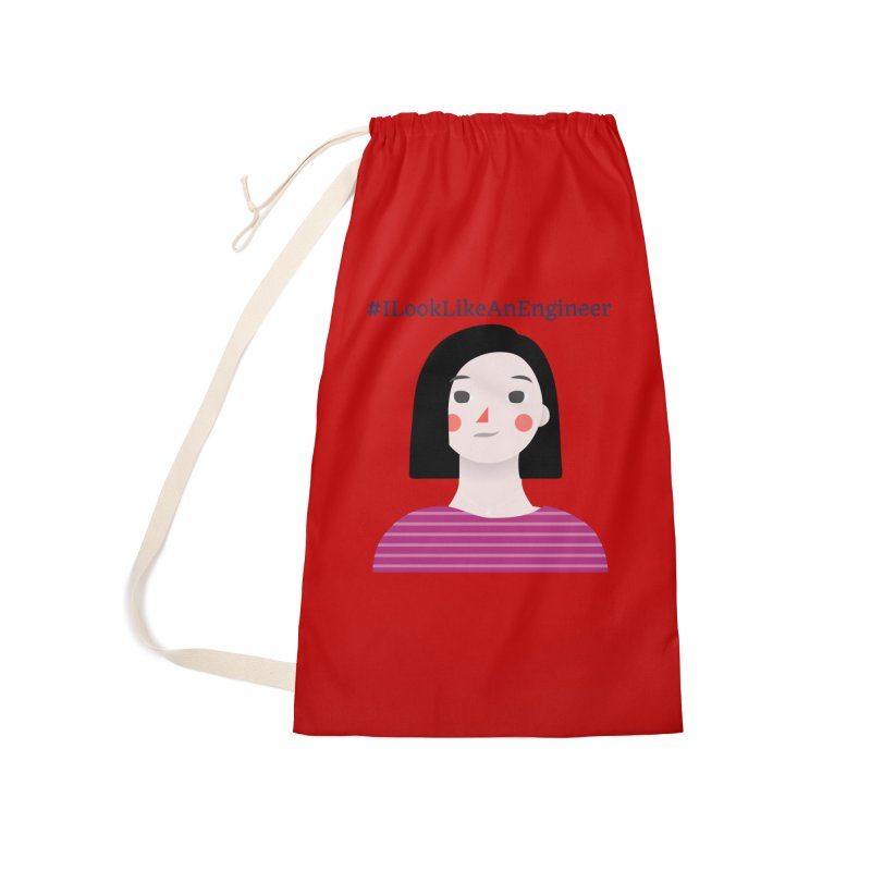 #ILookLikeAnEngineer with a female avatar Accessories Laundry Bag Bag by Women in Technology Online Store