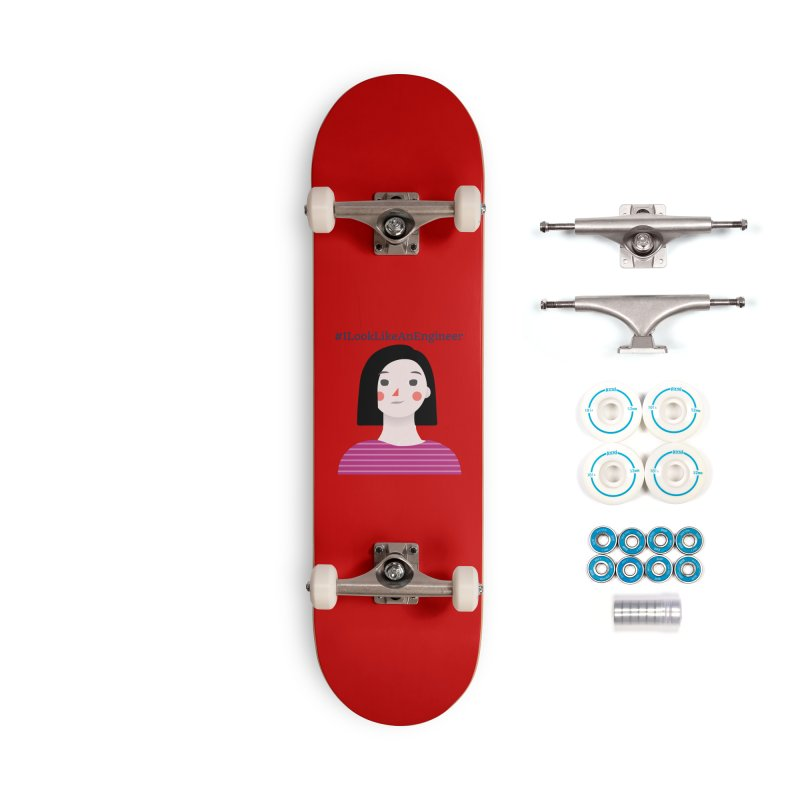 #ILookLikeAnEngineer with a female avatar Accessories Complete - Basic Skateboard by Women in Technology Online Store