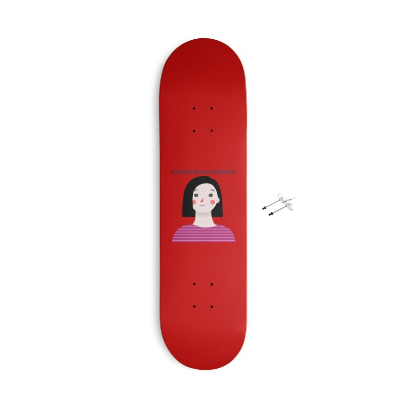 #ILookLikeAnEngineer with a female avatar Accessories Skateboard by Women in Technology Online Store