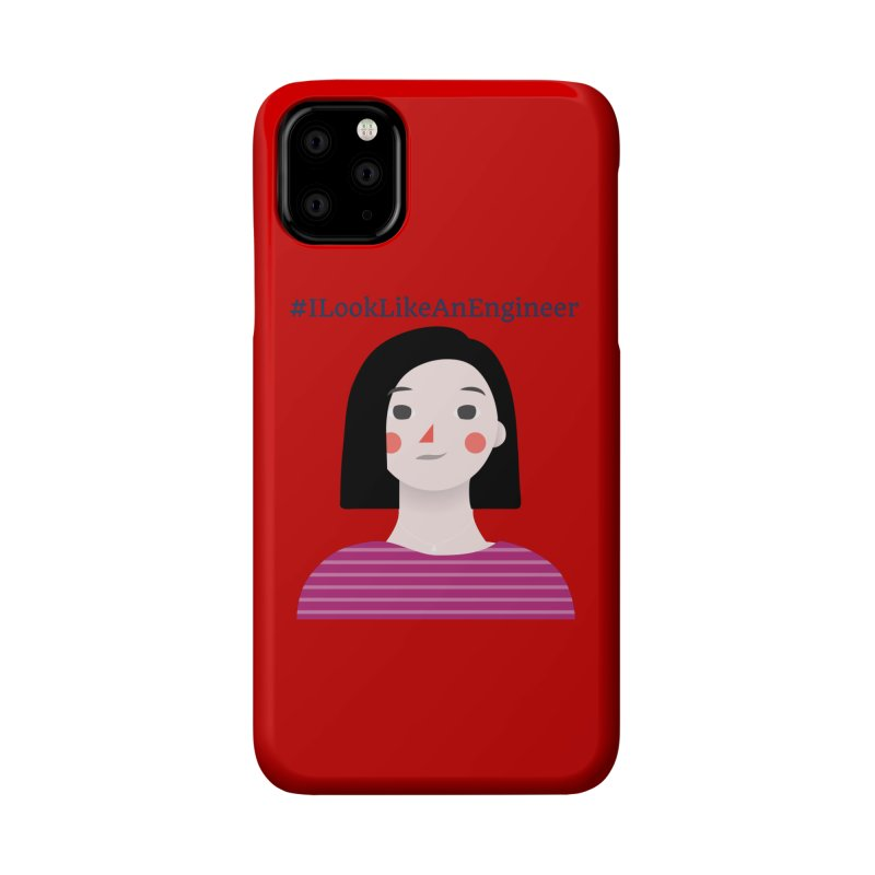 #ILookLikeAnEngineer with a female avatar Accessories Phone Case by Women in Technology Online Store