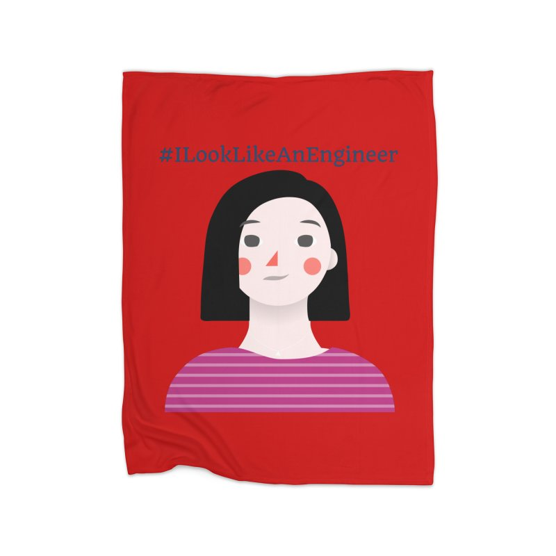 #ILookLikeAnEngineer with a female avatar Home Blanket by Women in Technology Online Store