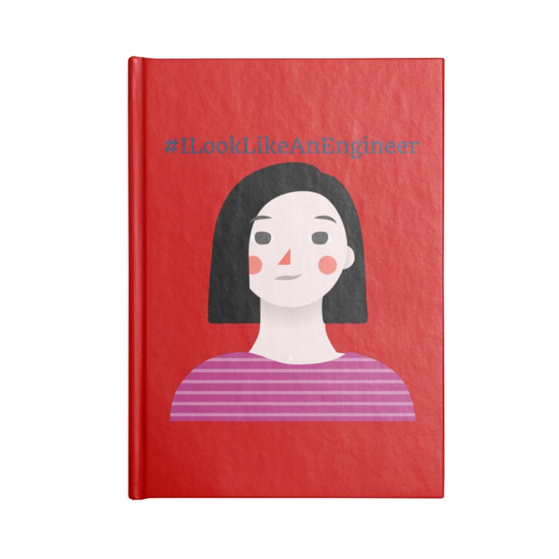 #ILookLikeAnEngineer with a female avatar Accessories Blank Journal Notebook by Women in Technology Online Store