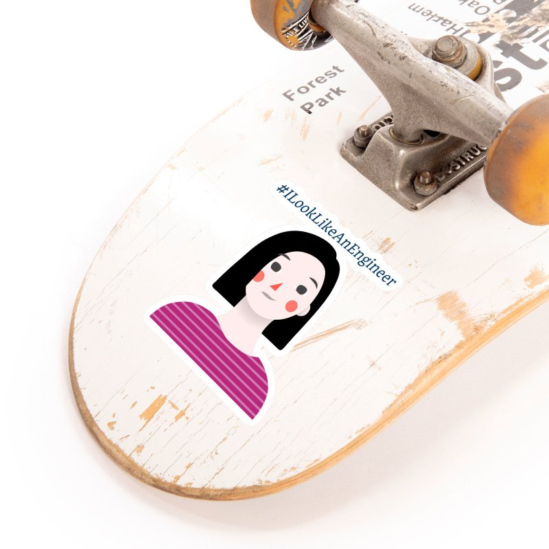 #ILookLikeAnEngineer with a female avatar Accessories Sticker by Women in Technology Online Store