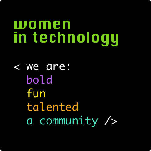 Women in Technology Online Store Logo