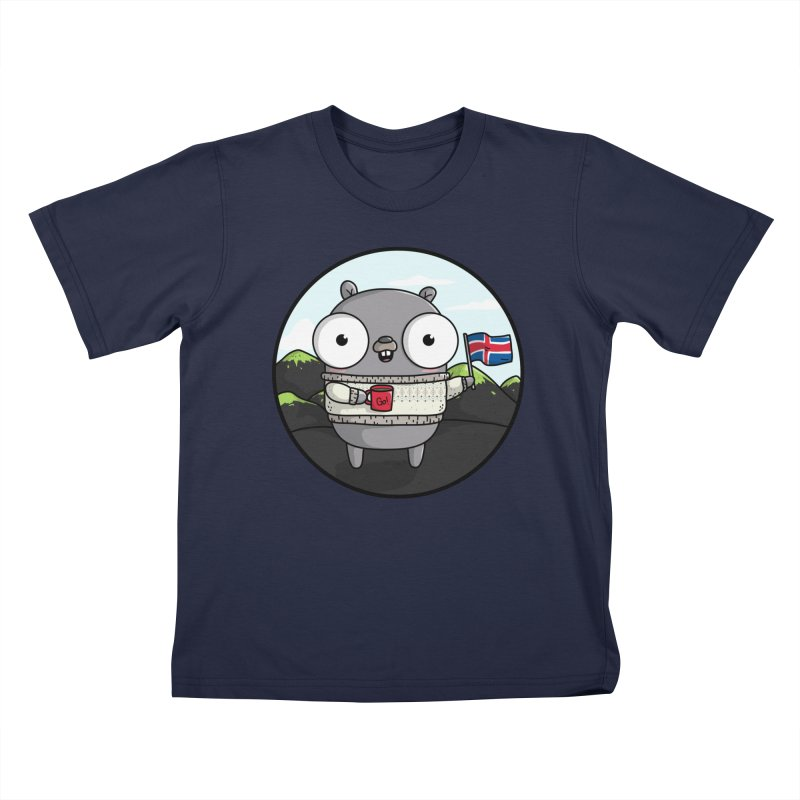 GopherCon Iceland Kids T-Shirt by Women Who Go