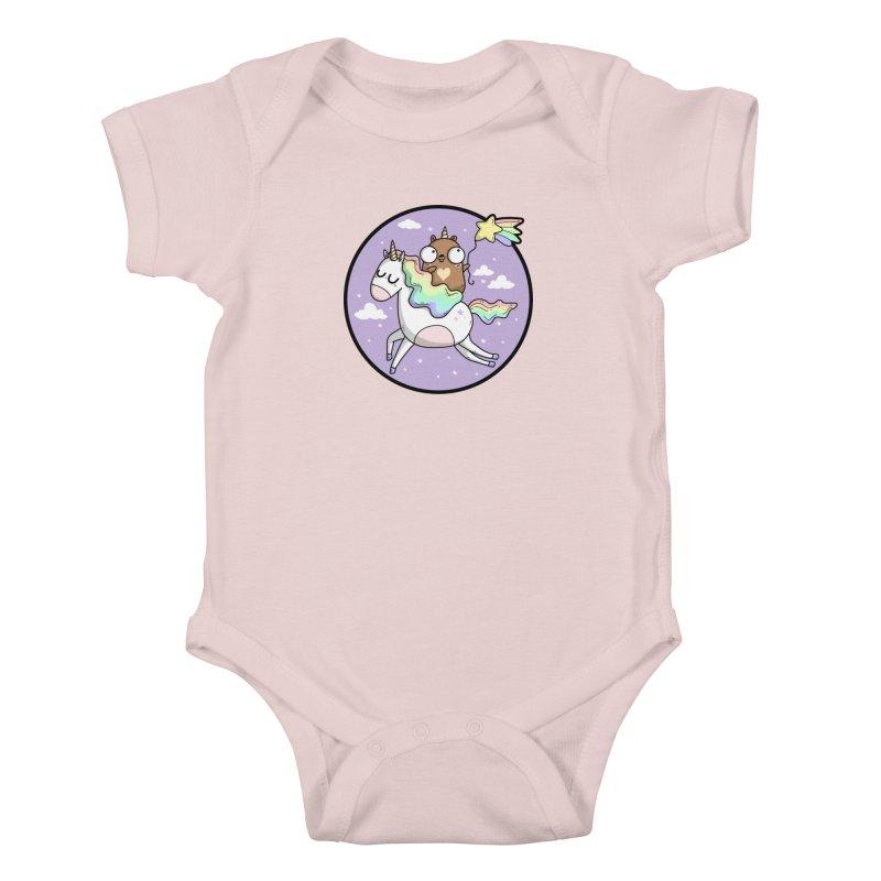 Unicorn Gopher Kids Baby Bodysuit by Women Who Go