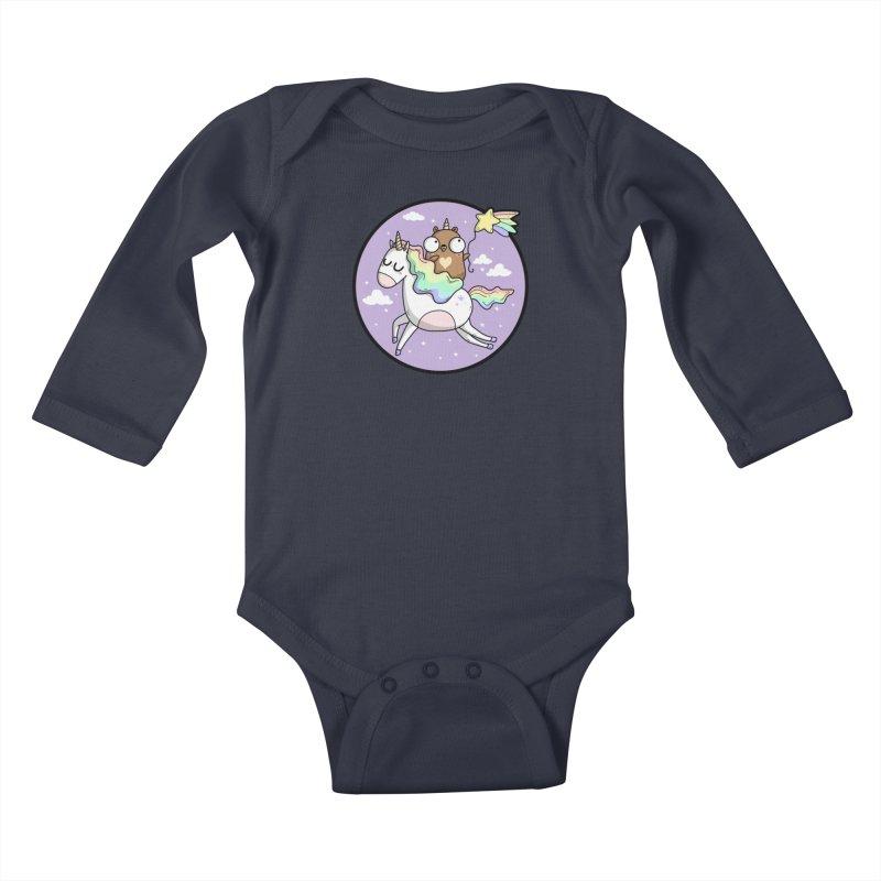 Unicorn Gopher Kids Baby Longsleeve Bodysuit by Women Who Go