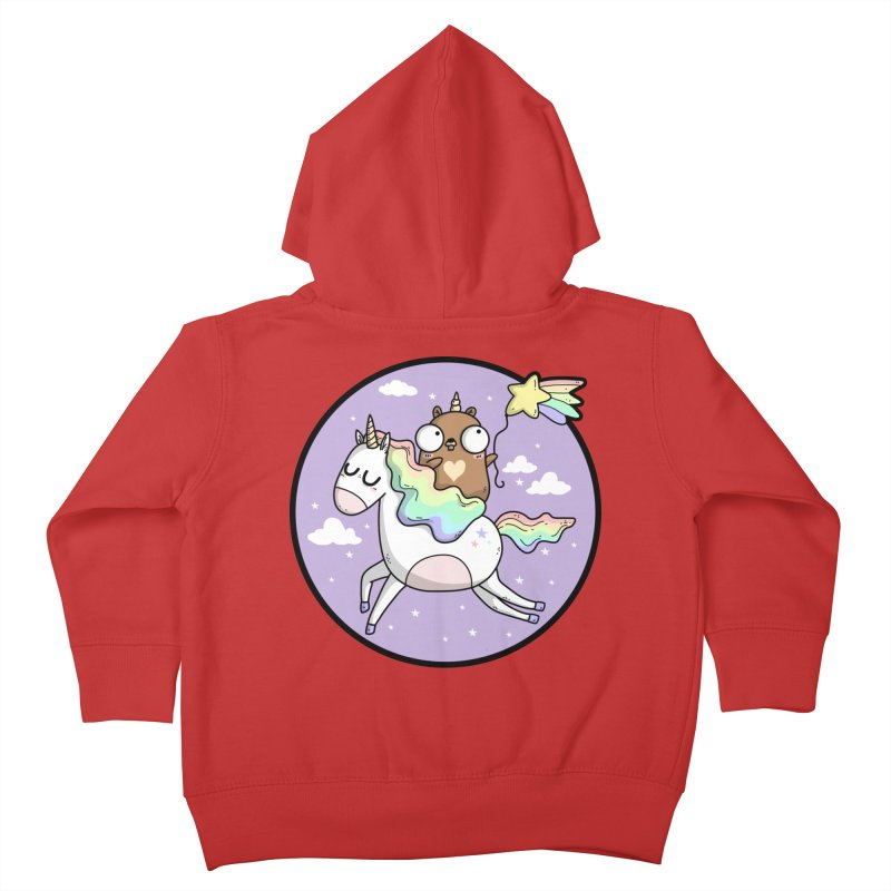 Unicorn Gopher Kids Toddler Zip-Up Hoody by Women Who Go