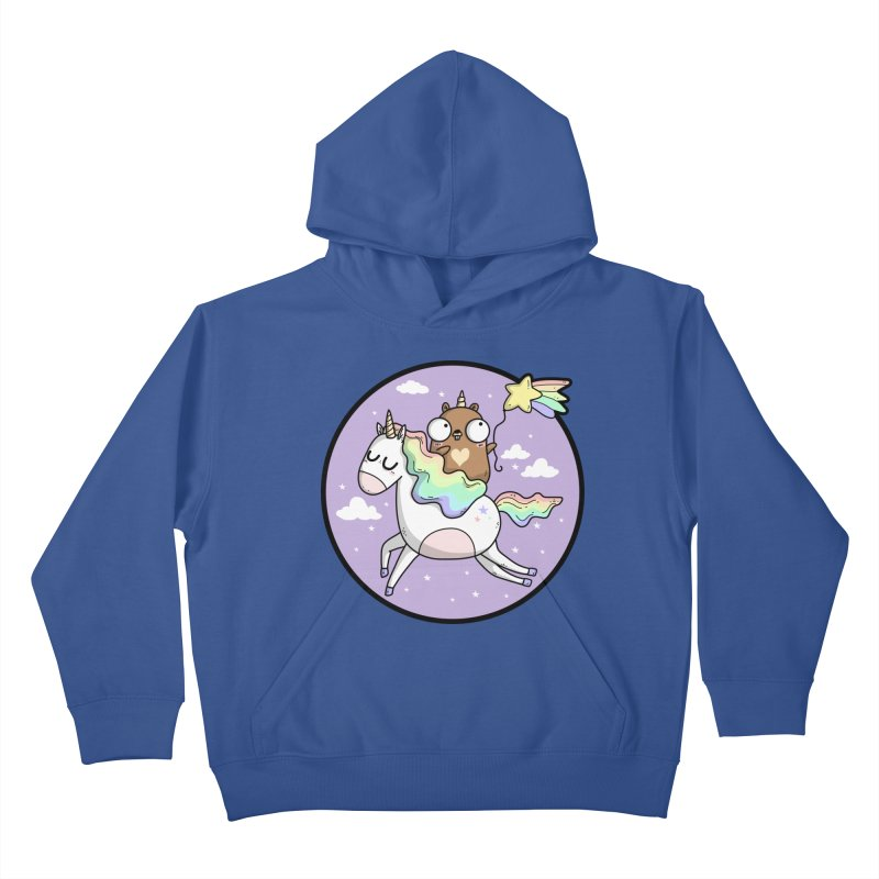 Unicorn Gopher Kids Pullover Hoody by Women Who Go