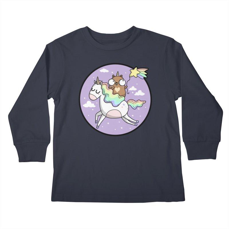 Unicorn Gopher Kids Longsleeve T-Shirt by Women Who Go