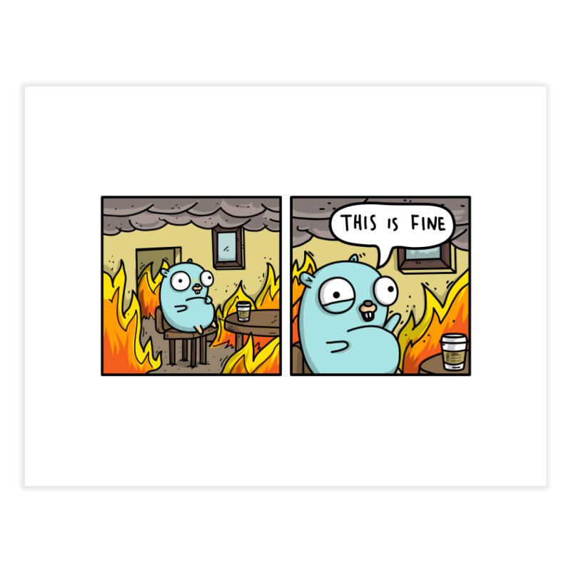 This is Fine Gopher Home Fine Art Print by Women Who Go