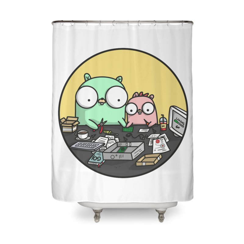Father & Daughter Gopher Home Shower Curtain by Women Who Go