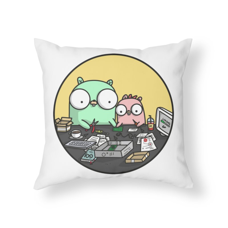 Father & Daughter Gopher Home Throw Pillow by Women Who Go
