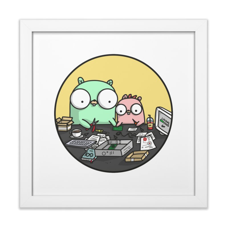 Father & Daughter Gopher Home Framed Fine Art Print by Women Who Go