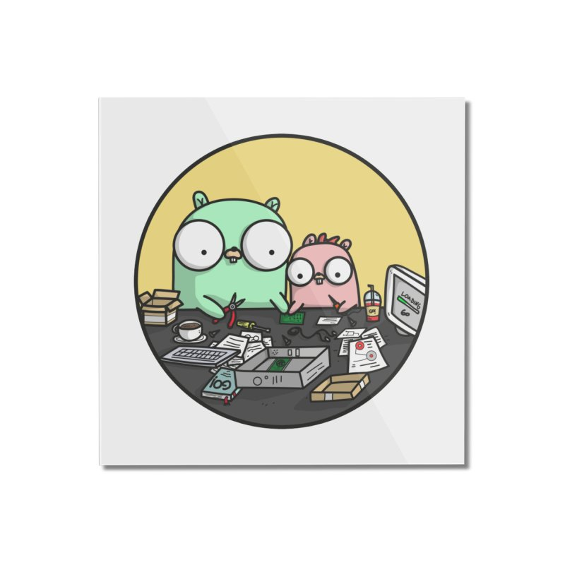 Father & Daughter Gopher Home Mounted Acrylic Print by Women Who Go
