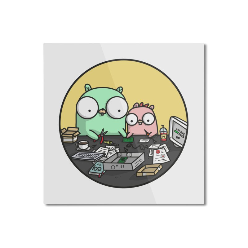 Father & Daughter Gopher Home Mounted Aluminum Print by Women Who Go