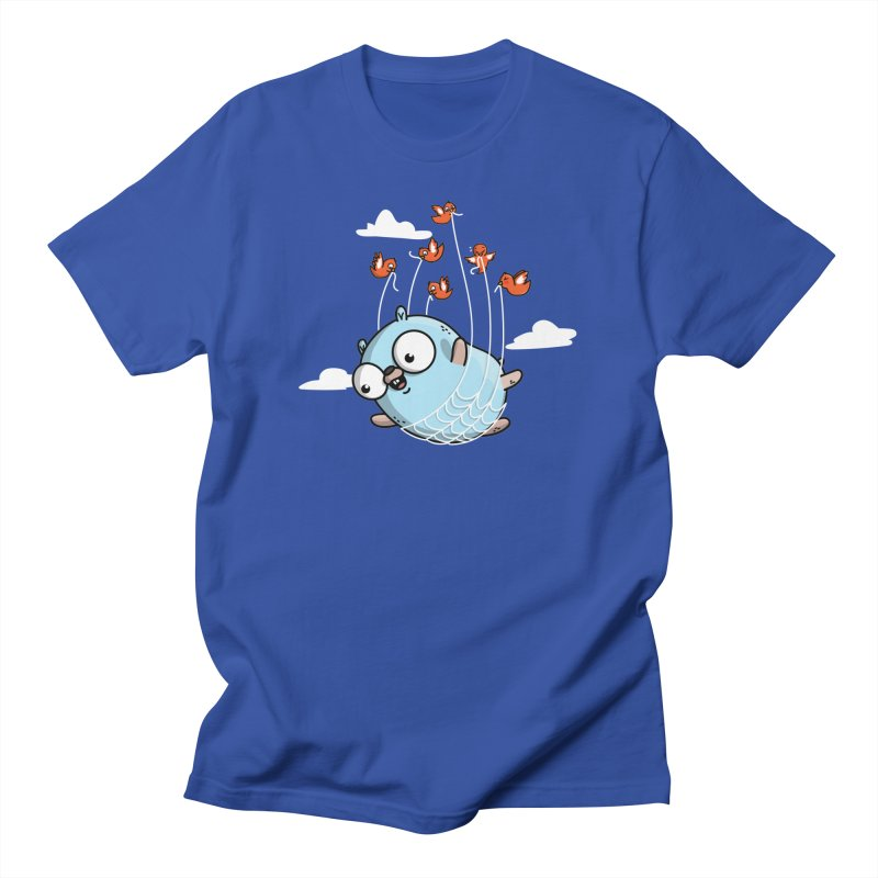 Fly Away With Me Gopher (Blue) Men's T-Shirt by Women Who Go