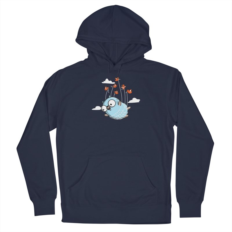 Fly Away With Me Gopher (Blue) Men's Pullover Hoody by Women Who Go