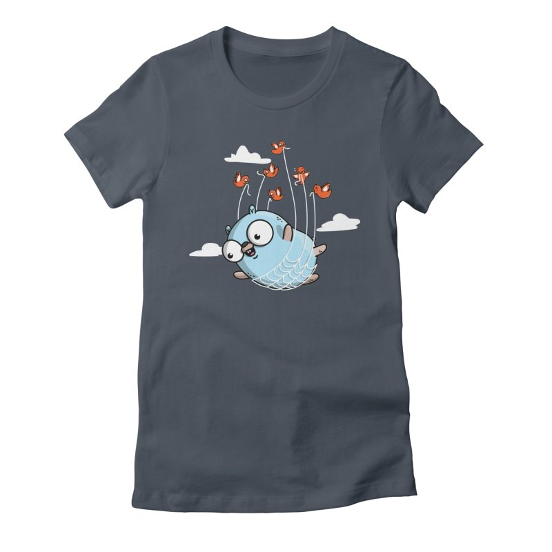 Fly Away With Me Gopher (Blue) Women's T-Shirt by Women Who Go