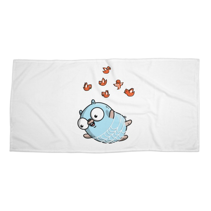 Fly Away With Me Gopher (Blue) Accessories Beach Towel by Women Who Go