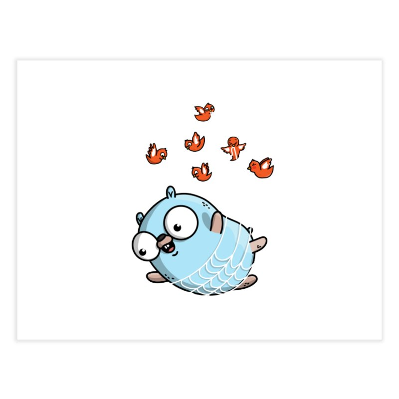 Fly Away With Me Gopher (Blue) Home Fine Art Print by Women Who Go