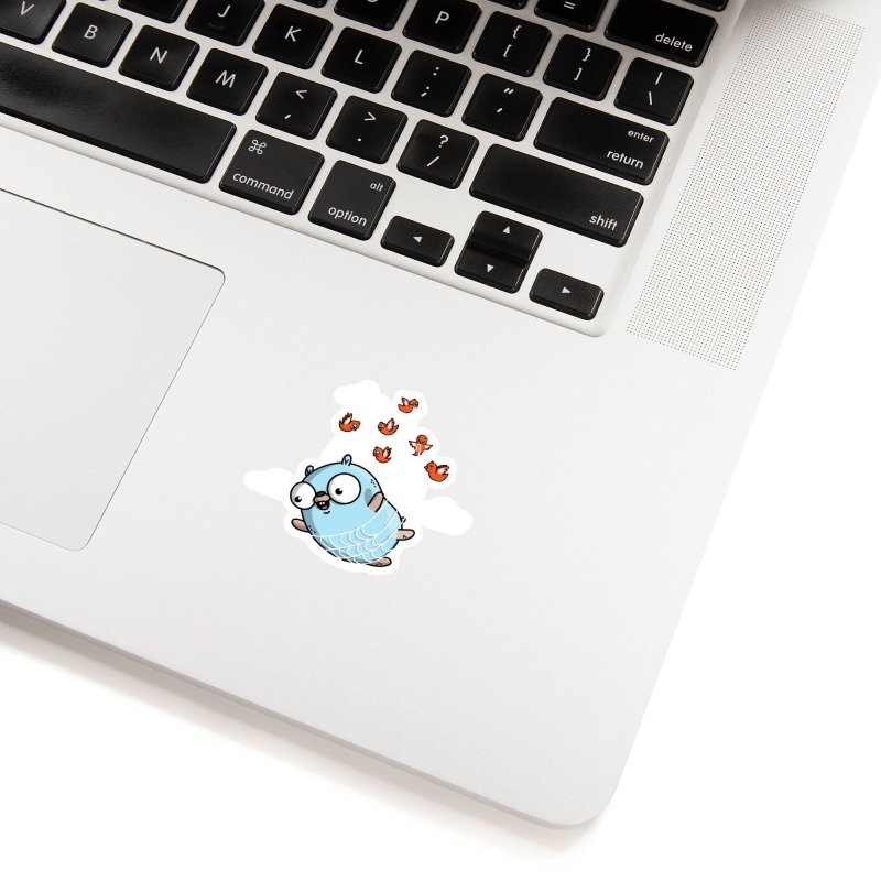 Fly Away With Me Gopher (Blue) Accessories Sticker by Women Who Go